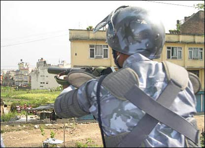 Security forces fire tear gas