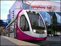 New-style Midland Metro tram