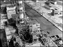Разрушенный четвертый энергоблок ЧАЭС