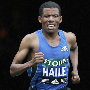Ethiopian long-distance specialist Haile Gebrselassie