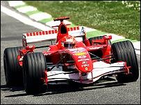 Michael Schumacher en el GP de San Marino.