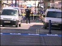 Scene of the attack in Sheerness