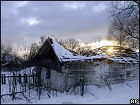 Заброшенный дом в Чернобыле
