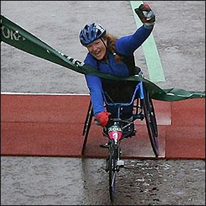Italian Francesca Porcellato celebrates victory