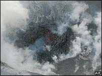 The crater of the Ubinas volcano