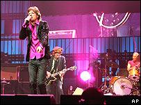 Rolling Stones en concierto.