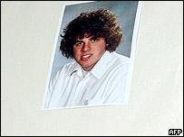 A photo of Joe Van Holsbeeck in a tribute at his school