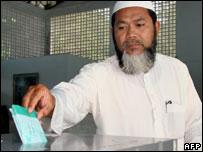 Muslim voter in southern Thailand