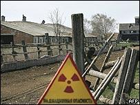 Aviso de radioactividad en aldea de Ucrania