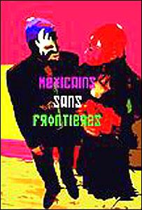 "Pintura de Hugo Claudín, ""Mexicains sans Frontiers"""
