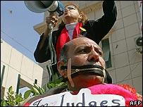 Pro-reform protester in Cairo
