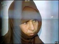 Sajida Rishawi in court in Amman