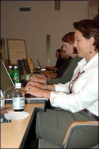 Heidi and Kit of Eurphoric Reality blog the Milblog Conference 2006
