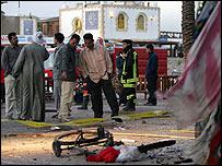 Egyptians inspect the devastation in Dahab following the triple-bombings