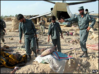 Plane crash in Helmand province
