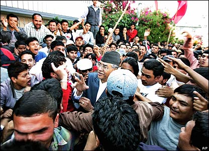 Sher Bahadur Deuba heads to a meeting of opposition parties on Tuesday in Kathmandu