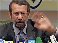 Iran's chief nuclear negotiator, Ali Larijani
