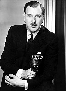 Grandstand's first presenter Peter Dimmock
