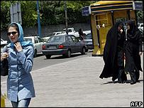 Street scene in Tehran