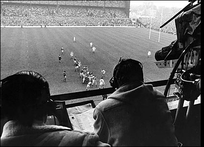 The Grandstand cameras are at Twickenham in 1964 for a game between England and Ireland