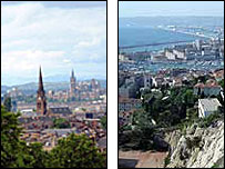 Glasgow and Marseille