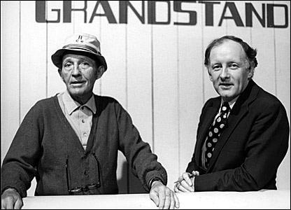 Bing Crosby (left) and Frank Bough