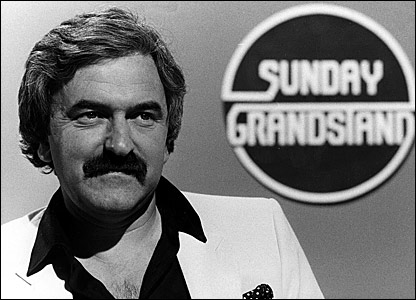 Des Lynam on Sunday Grandstand in 1981