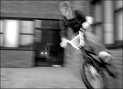 Aaron Heasman's brother Phillip in BMX action