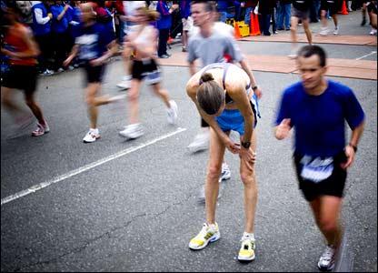 Chiya Louie's cramped marathon runner