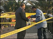 Police gathering evidence in Dahab