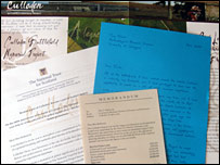 Appeal letters and leaflets