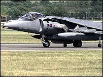 Harrier GR7 jet