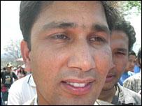 Protester Bikash Sharma