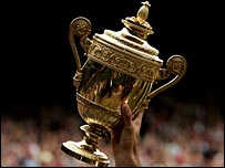 The Wimbledon men's singles trophy