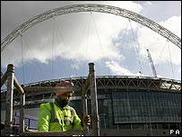 Work continuing on the new Wembley stadium