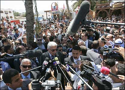 Egyptian Prime Minister Ahmed Nazif in Dahab