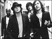 Dirty Pretty Things (from left) Gary Powell, Carl Barat, Anthony Rossomando and Didz Hammond