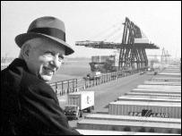 Transport entrepreneur Malcom McLean