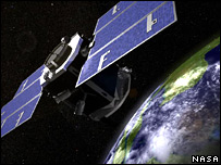 Artist's impression of Cloudsat (Nasa)