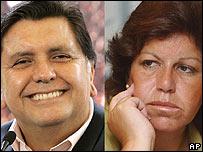 Alan García y Lourdes Flores.