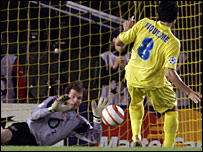 Lehmann keeps out Riquelme's penalty