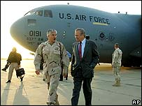 رمسفيلد في بغداد