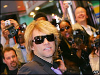 Bon Jovi, attending the New York opening of Lestat