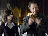 Audrey Tautou and Tom Hanks in The Da Vinci Code