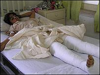 Noor in hospital