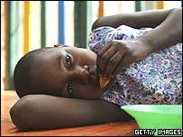 Aids orphan in Uganda