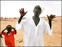 Civilians who fleed attacks in Darfur