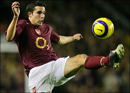 Robin van Persie in action