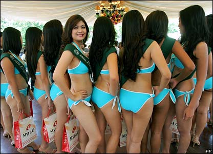 Miss Earth contestants in the Philippines