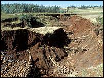 Soil erosion (Image: Jim Loring/Tearfund)